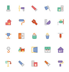 Construction icons 4 vector