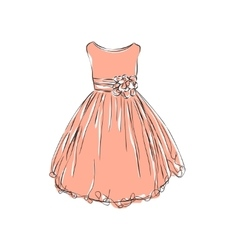 Dress for little girls vector image vector image