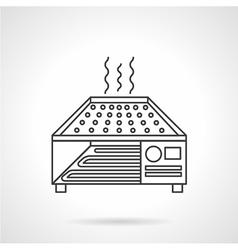Dryer oven flat line icon vector
