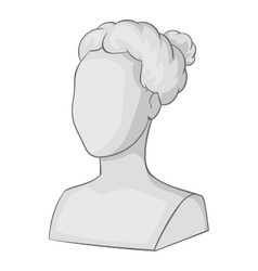 Female statue head icon gray monochrome style vector