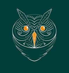 Geometric owl contour vector