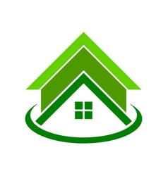 Global green housing logo symbol vector
