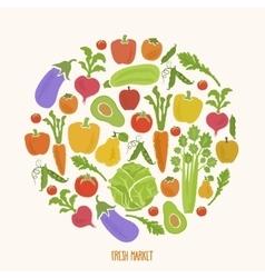 Healthy food background of fresh vegetable vector image