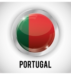 Isolated portugal button design vector