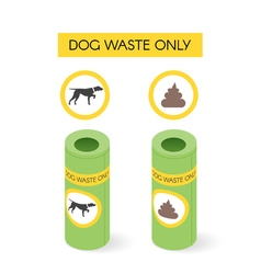 Isometric dog waste cans vector