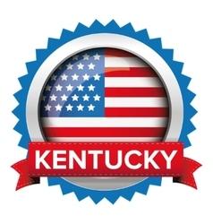Kentucky and usa flag badge vector
