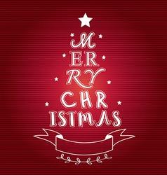 Merry christmas tree typo vector