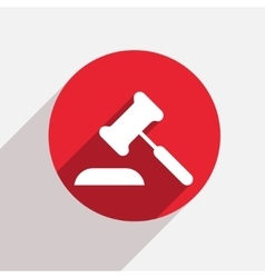 Modern courthouse red circle icon vector