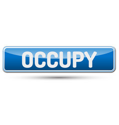 Occupy - abstract beautiful button with text vector