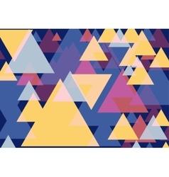 Pop art triangles vector image vector image