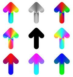 Rounded rainbow arrow icon design set vector image vector image