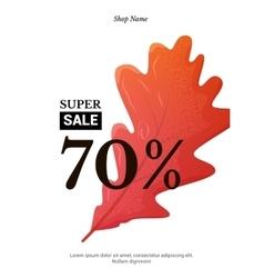 Sale elegant banner vector image vector image