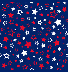 stars seamless pattern usa colors background vector image vector image