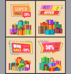 super price -20 best offer vector image