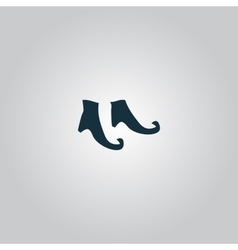 Witch boots icon vector image
