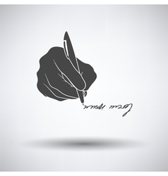 Signing hand icon vector image
