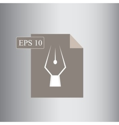 Rendy eps format or extension icon vector