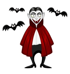 Vampire for Halloween vector image