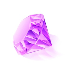 Diamond purple vector