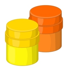 Paint cans icon cartoon style vector