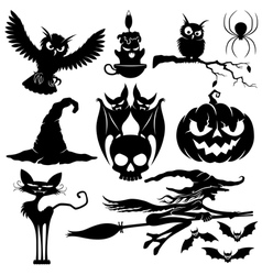 Halloween black signs vector