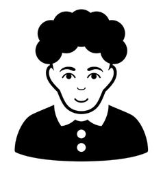 Brunette woman flat icon vector
