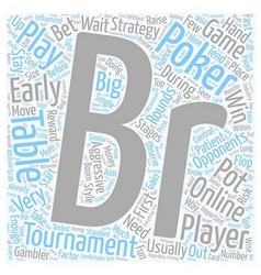Online poker tournaments 1 text background vector