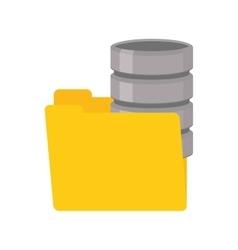 Folder data server computer vector