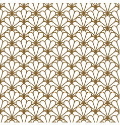 Japan inspired seamless pattern in gold vector