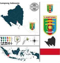 Map of lampung vector
