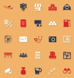 Application classic color icons with shadow vector