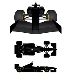 Black racing car vector