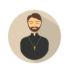 Yoga icon of priest vector