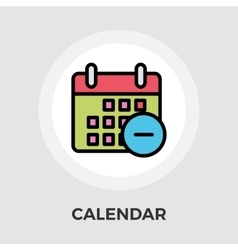 Calendar with minus vector image