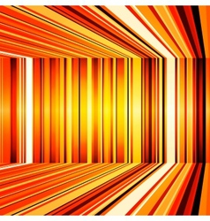 Abstract yellow and orange warped stripes vector