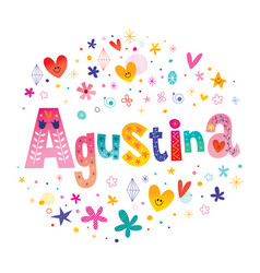 Agustina girls name vector