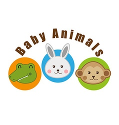 baby animals design vector image vector image