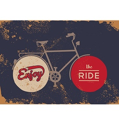 Bike concept vintage bicycle concept grunge poster vector image