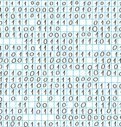 Binary code doodle vector