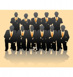 business team vector image vector image