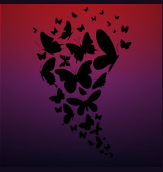 butterflies gradient background vector image vector image