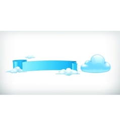 Cloud banner vector image vector image