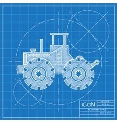 color flat heavy machine icon vector image