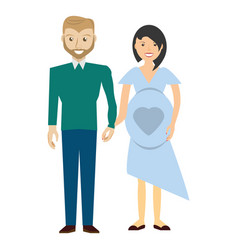 Couples relationship family pregnancy vector