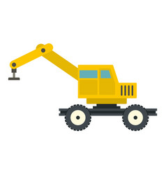 Crane truck icon isolated vector