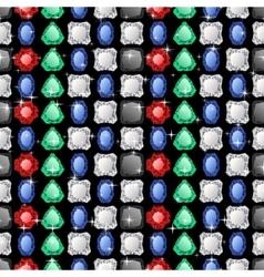 Diamonds seamless pattern vector