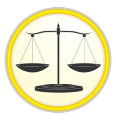 Elegant balance symbol vector