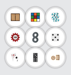 flat icon games set of backgammon multiplayer vector image vector image