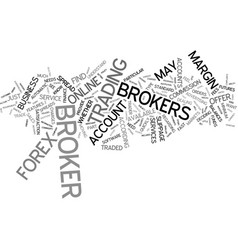 Forex brokers text background word cloud concept vector
