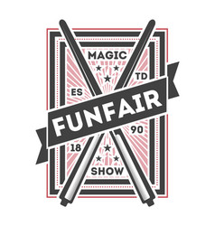 funfair show vintage isolated label vector image vector image